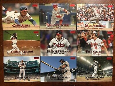 2019 Topps Stadium Club Red Foil Parallel Singles U-PICK Complete Your Set