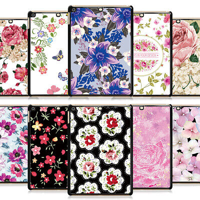 """Romantic Flower Hard Metal Case Cover For NEW iPad Pro Air Mini 2 3 4 9.7"""" 2018"""