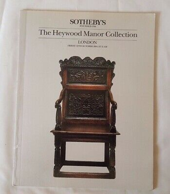 Sothebys Catalogue  The Heywood Manor Collection Fine Early Oak Furniture Oct84