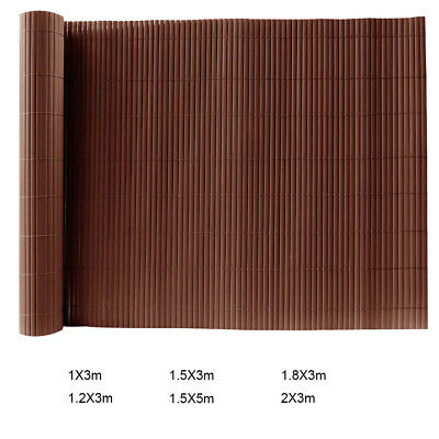 3M/5M Garden Fencing Fence Panels Screening PVC Double Sided Bamboo Fence Slat