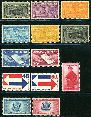 US Scott #E14 E15 E16 E17 E18 E19 E20 E21 E22 E23  CE1 CE2 & FA1 Set of 13 MNH