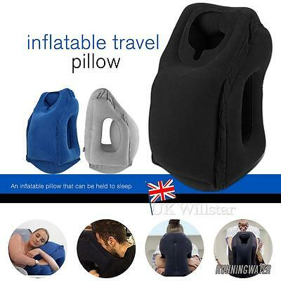 Inflatable Air Travel Pillow Cushion Neck flight Comfortable Support Nap Neck 00