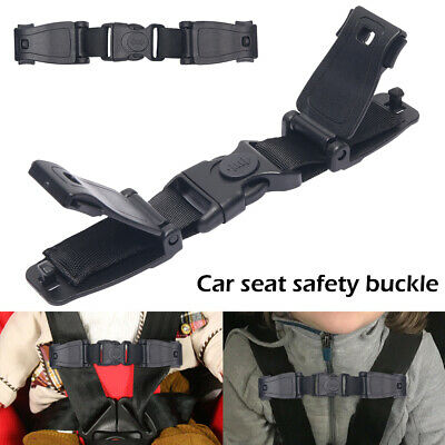 2X Car Baby Safety Seat Strap Child Toddler Chest Harness Stop Lock Buckle Clip