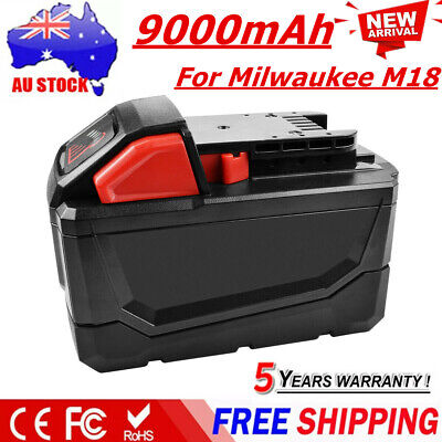 18V 9.0AH Li-Ion Replacement Battery For Milwaukee M18 48-11-1850 48-11-1828 EG