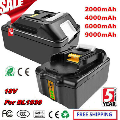 18V 2.0AH 4.0AH 6.0AH 9.0AH Li-Ion Battery For Makita BL1830 BL1815 BL1860 LXT