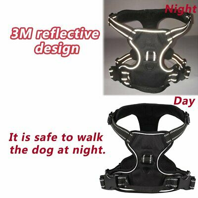 No-pull Dog Pet Harness Reflective Outdoor Safety Vest Jacket Padded Handle QC