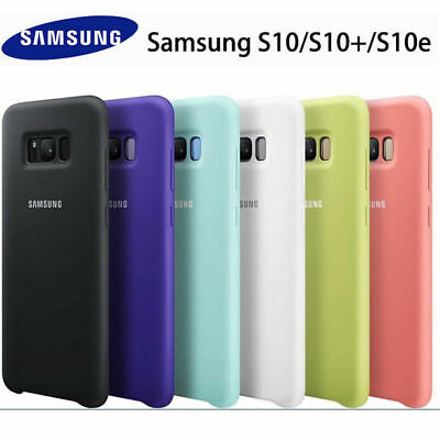 For Samsung S10 Plus Case Original Silicone Protector Cover Samsung S8 S9 S10 +