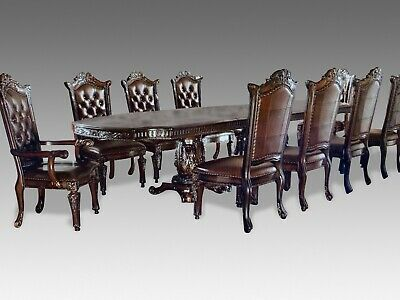 World class designer dining table and chairs made to order 8ft to 20ft plus