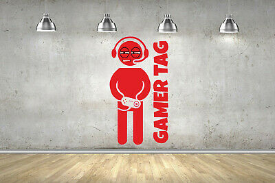 STONED Personalised Name Gamer Gaming Wall Sticker ANY Colour Fort Art Nite