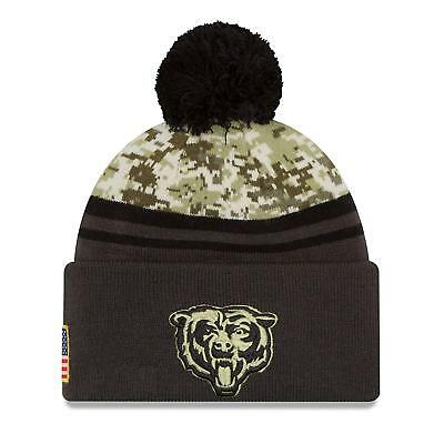 Chicago Bears SALUTE To Service Knit Beanie Hat Cap -Patriotic-New Era -