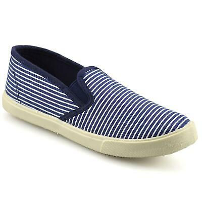 Girls Kids Casual Flat Canvas Slip On Summer Pumps Trainers Plimsolls Shoes Size