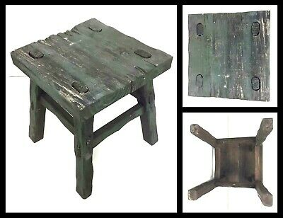 Sm. Vtg Footstool Handmade Wooden Rustic Country Farmhouse Primitive Foot stool