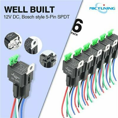 20 PCS) 40A PREMIUM AUTOMOTIVE RELAYS & SOCKETS CAR WIRING SPDT
