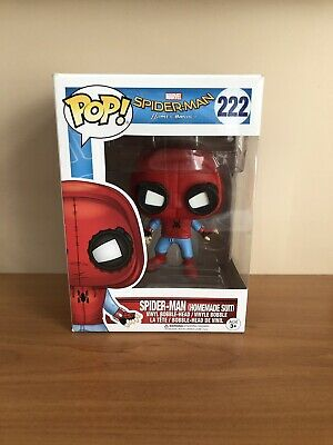 Spider-man Home Made Suit Homecoming Funko Pop + Protector