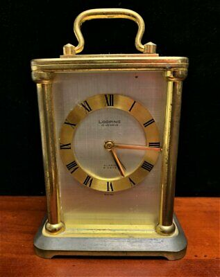 Vintage Looping Swiss Made 15 J Carriage Alarm Clock