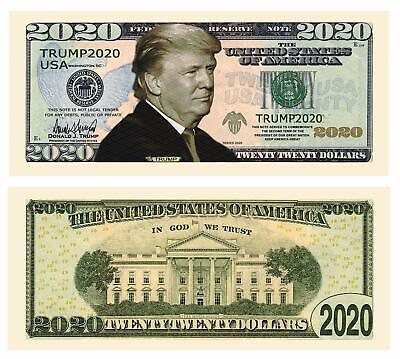 Trump 2020 Collectible Re-Election Campaign Dollar Bills Pack of 5