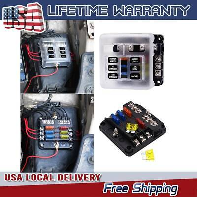 6-WAY CAR MARINE Waterproof Fuse Box Block Holder with LED ... on ignition switch wiring, power window switch wiring, fuse box assembly, fuse box plug, fuse box electrical, fuse box components, fuse box transformer, fuse box electricity, fuse box connectors, fuse switch box, fuse box mounts, fuse box speakers, fuse box safety, fuse box engine, fuse box grounding, fuse box fuses, fuse box terminals, fuse box dimensions, fuse box repair, fuse box relays,
