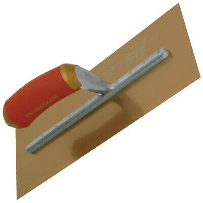 "Marshalltown MPB1GSD 11x4.1/2"" Gold Stainless Steel Plasterers Trowel"