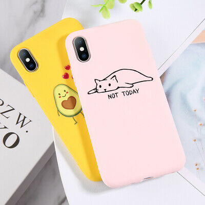 Cartoon Pattern Soft Silicone TPU Case Cover For iPhone 11 Pro Max 6 7 8 Xs Max