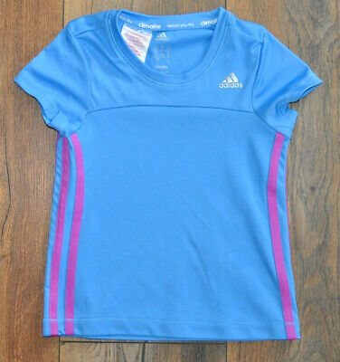 ADIDAS Climacool Girls T- shirt Top 2-3 Years BLUE
