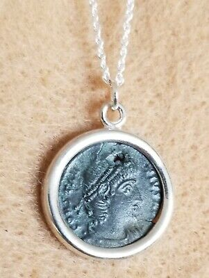 Constantine the Great House Authentic Roman Coin Pendant 925 Silver Necklace