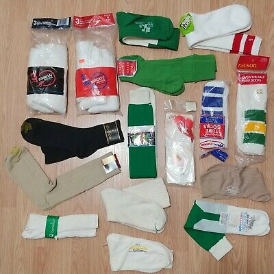 Lot Of 20 - Socks Vintage Sports Dress Athletic Mens Adult 1980s 90s DeadStock