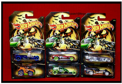 2019 Hot Wheels Halloween Set Of 6, Themed Cars Collector Series In Stock Now!