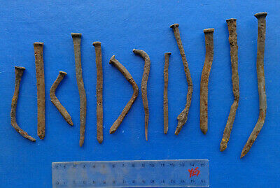 Lot of Ancient Iron Nails  12 pieces
