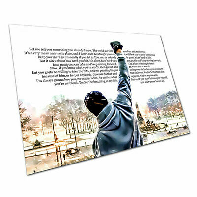 Poster print Rocky Balboa boxing quote Let me tell you something A1 Poster