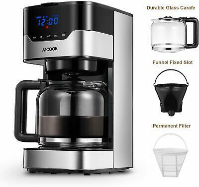 Coffee Machine Kitchen 12 Cup Coffe Maker Permanent Reusable Filter