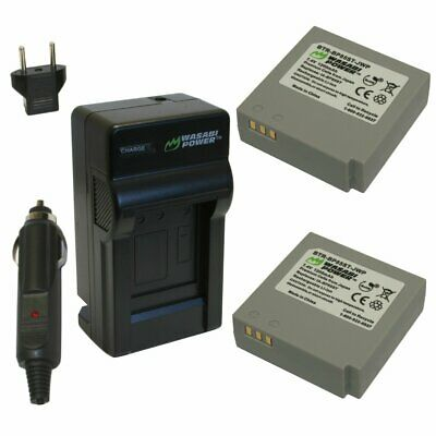 Wasabi Power Battery (2-Pack) and Charger for Samsung IA-BP85NF, IA-BP85ST