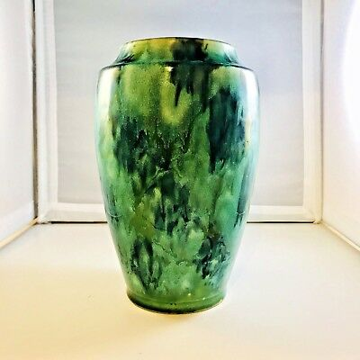 Antique Chinese Vases Ginger Pot Porcelain Monochrome Green Black Crackle