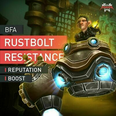 Boosting Service: Rustbolt Resistance Reputation Farm Boost Accplay only WoW BFA