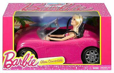 Barbie Doll Vehicle Super Glam Barbie Convertible Car Girls Toy Gift Pink