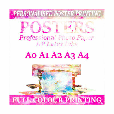 Personalised Photo prints POSTER PRINTING SERVICE Print A0 A1 A2 A3 A4 posters