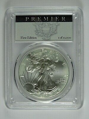 2017 P American Silver Eagle $1 PCGS MS70 - First Edition - Premier Label