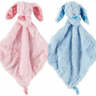 Kelly Baby Toy Blue Pink Bunny Rabbit Baby Blankie With Rattle Lovey New Nwt