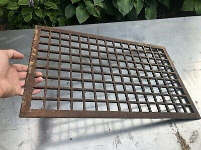 vtg floor grate Heat Register Victorian Industrial Cast Home Wall Antique Metal