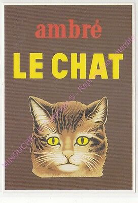 CP PUBLICITE ADS LE CHAT AMBRE Edt CLOUET 10689