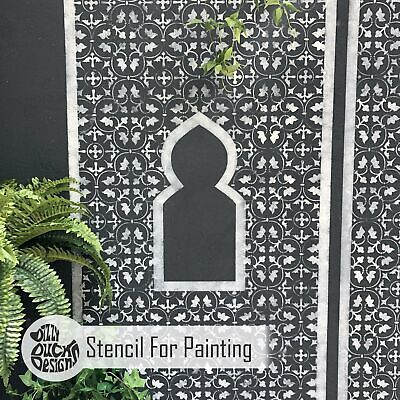 MOROCCAN Wall PANEL Wall Stencil for Painting