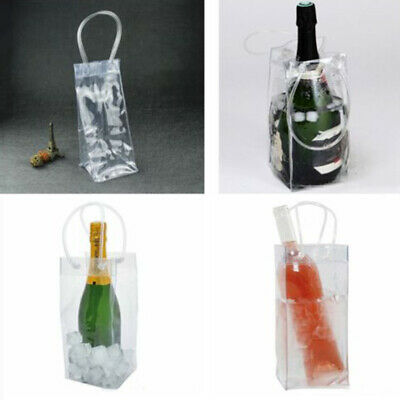 Insulated Gel Ice Wine Bottle Cool Ice PVC Bag Outdoor Drinks Carrier Champagne