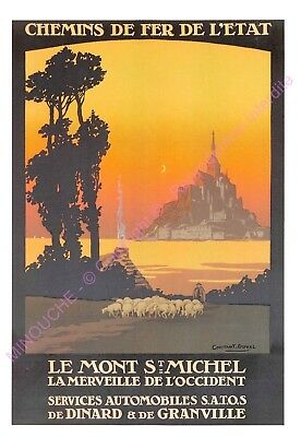 CP AFFICHE REPRODUCTION LE MONT ST MICHEL Edt CARTEXPO 10869