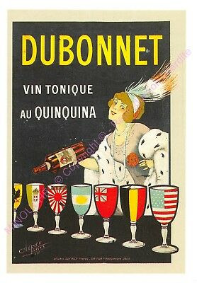 CP AFFICHE REPRODUCTION DUBONNET VIN TONIQUE Edt CARTEXPO 10741