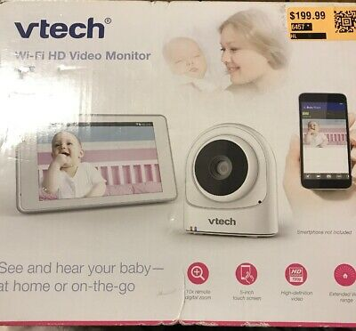NEW VTech VM981 Wireless WiFi Baby Monitor w/Remote Access App 5in Touch Screen