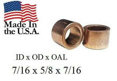 "3//8/""x 5//8/""x 1//2/"" Bronze Bushing Qty 1pc Flange Made In USA American Bronze"