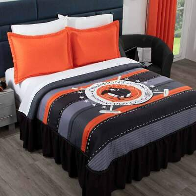 Floral Romantic Monarca Red Bedspread Set with Bedskirt Attached 4-5pcs