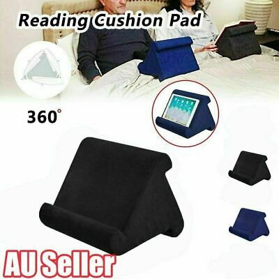 Tablet Stand Book Reader Lap Rest Pillow Cushion Holder Reading For iPad Phone W