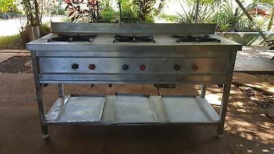 3 Burner Commercial Gas Stove - Brand New