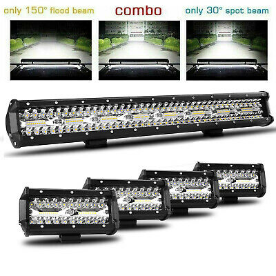"Quad-Row 12Inch 1632W Led Light Bar Spot Flood Offroad Combo Truck Atv 13"" 15"""