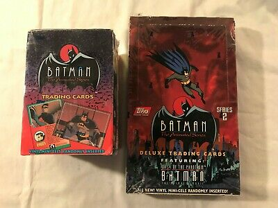 1993 Topps Batman: The Animated Series 1 & 2 Factory Sealed Box w/36 Packs x 2